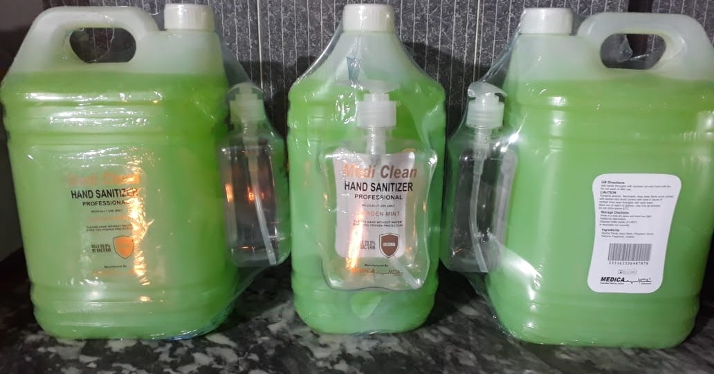 WHO Approved Hand Sanitizer (MEDI CLEAN) - Mi Traders
