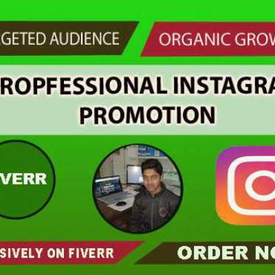 I will do instagram promotion, account grow and manage daily post Profile Picture