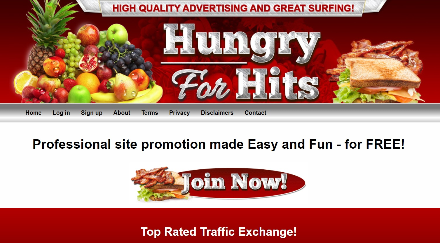 Hungry For Hits traffic exchange. Increase traffic for free!