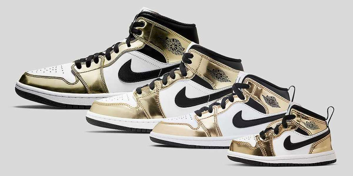 "The Air Jordan 1 Mid SE ""Metallic Gold"" will be officially released on November 30."