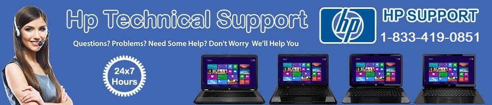 HP Technical Support 1-833-419-0851 Phone Number