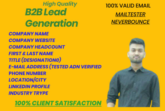 Do b2b lead generation and build the verified emails list by Mottakin1
