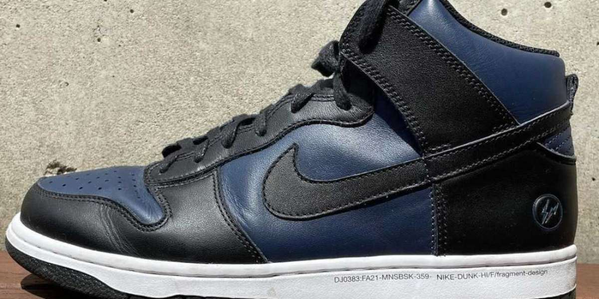 Brand New Fragment x Nike Dunk High Navy Black will be released for Fall 2021