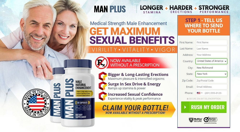 Man Plus Male Enhancement -Complete Desire With Hard Erection And Give More Satisfaction!