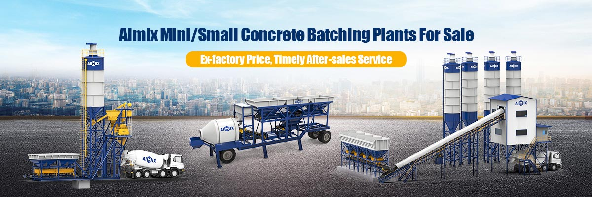 Small Concrete Batching Plant For Sale - Indonesia AIMIX - Factory Price
